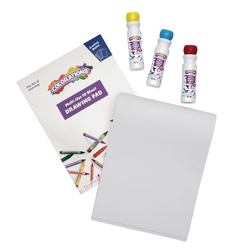 22 Dab Markers with 3 Drawing Pads