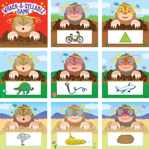 Whack-A-Syllable Game - Syllable Recognition