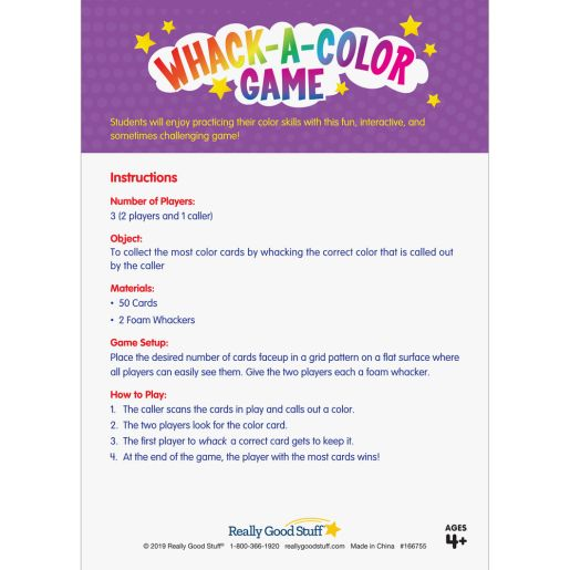 Whack-A-Color Game -Color Recognition