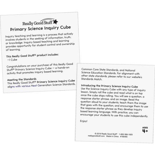 Primary Science Inquiry Cube