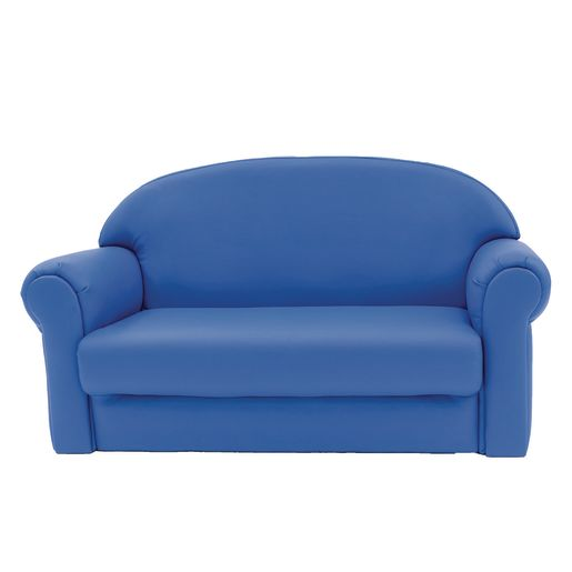 Upholstered Sofa, Blue