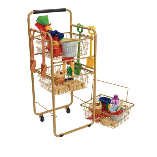 Excellerations® Outdoor Storage Cart with Removable Baskets
