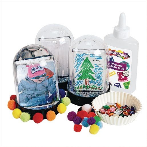Colorations® Create Your Own Snowglobe - Set of 2