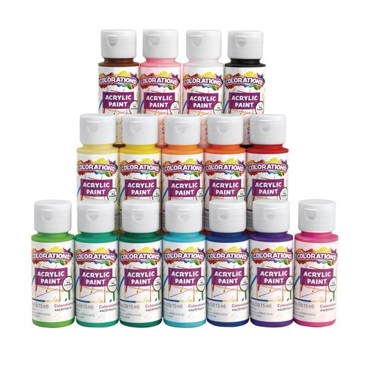 Colorations Acrylic Paint Set, 16 Colors, each 2oz