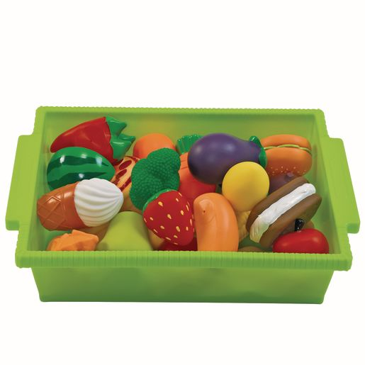 Environments® My First Soft Dishes and Play Food Set - 42 Pieces with Storage