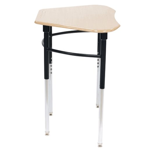 Single Student Table with Bag Hook, Maple