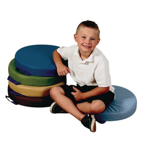 """15"""" Round Cushions, Set of 5 - Woodland"""
