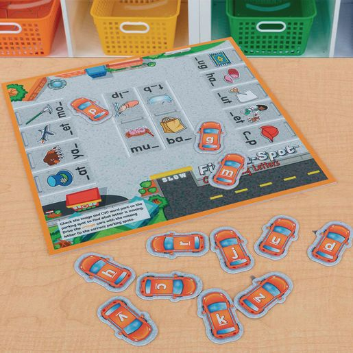 Find-A-Spot™ CVC Missing Letters Game