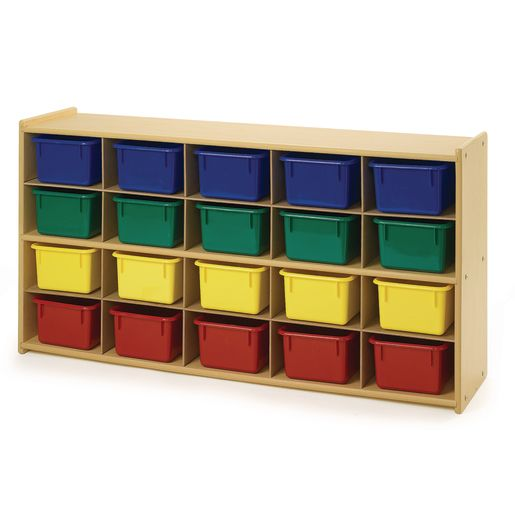 Angeles Value Line™ 20 Cubbie Storage With Colored Trays