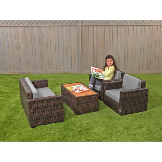 Excellerations® Outdoor Wicker Furniture 4-Piece Set