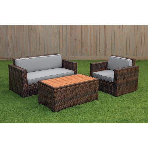 Excellerations® Outdoor Wicker Furniture 3-Piece Set