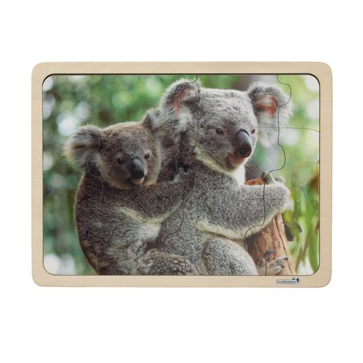 Excellerations® Animal Families Around the World Wooden Puzzles and Posters Set of 9