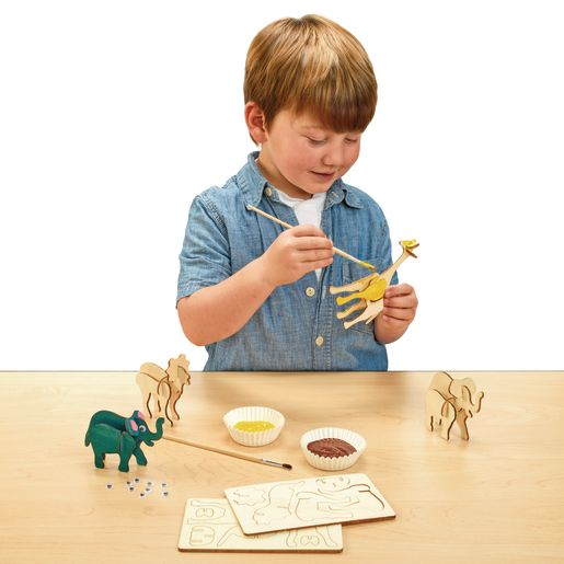 Colorations® Decorate Your Own 3-D Wooden Puzzles, 12 Designs
