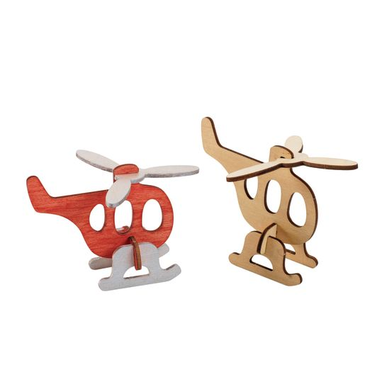 Colorations Decorate Your Own 3-D Wooden Vehicle Puzzles, Set of 4 Designs with Paint & Brushes