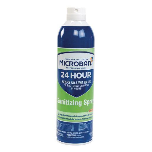 Microban® 24-Hour Disinfectant Sanitizing Spray, 15oz, Set of 6_1