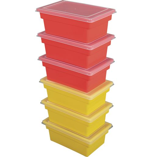 All-Purpose Bins & Lids, Set of 12 - Primary