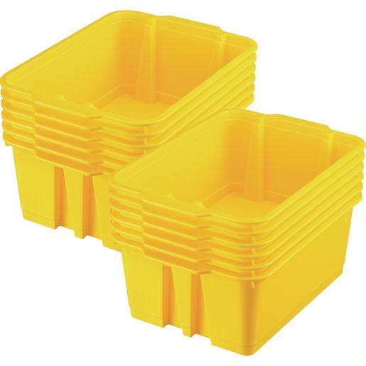 Classroom Stacking Bins - Set of 12 - Yellow