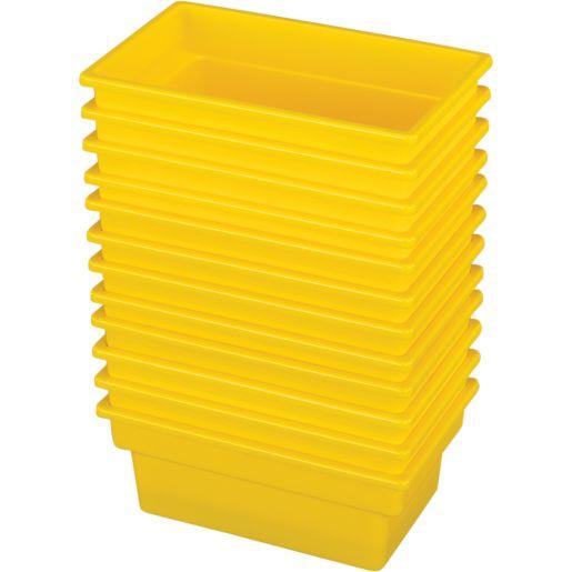 Small All-Purpose Bin, Set of 12 - Yellow