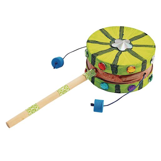 Colorations® Decorate Your Own Spindrum, 6 DRUMS