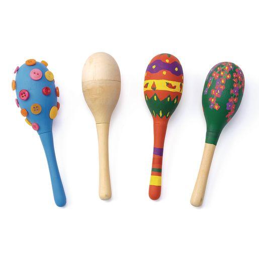 Colorations® Decorate Your Own Maracas 2PC, 6 SETS