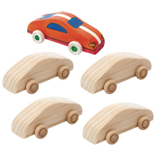 Colorations® Decorate Your Own Wood Car, 6 CARS