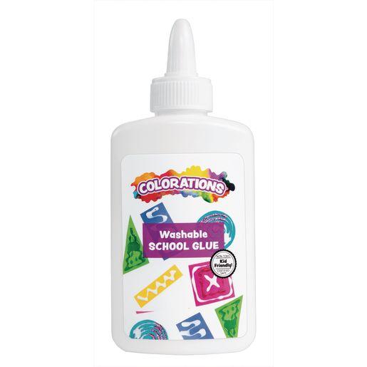 Colorations White School GlueEA 4OZ, 6 PCS