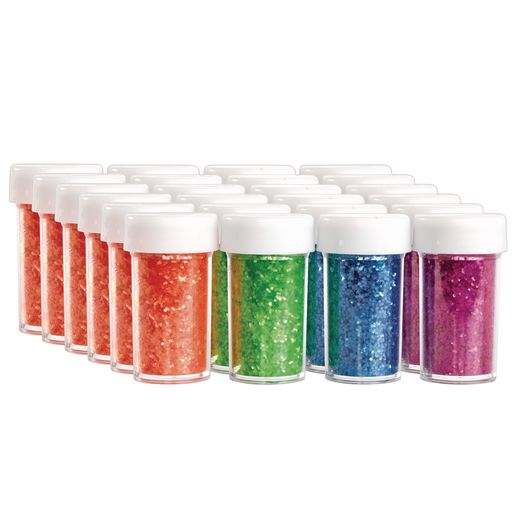 Colorations® Neon Glitter - 6 Sets of 4 colors