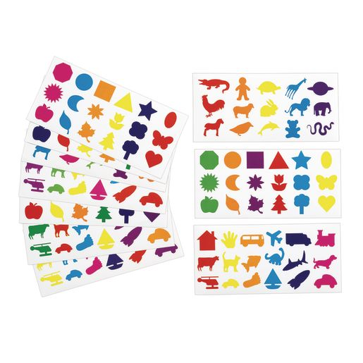 Colorations Familiar Stickers, 12 Sheet EA, Set of 6