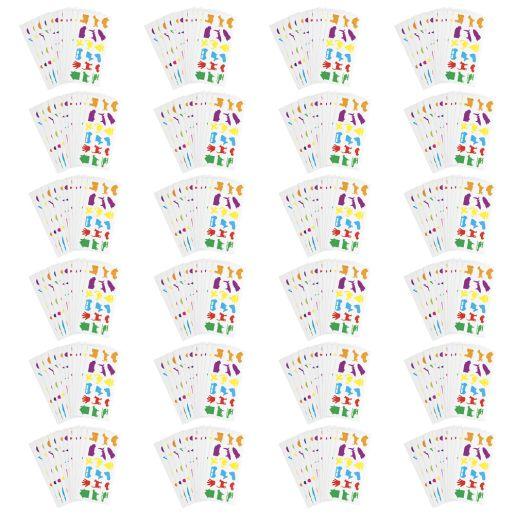 Colorations Familiar Stickers, 12 Sheet EA, SET OF 24