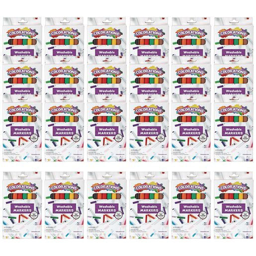 Colorations Markers, 8 Color, 24 Sets, Total 192