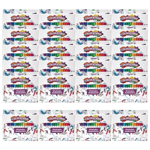 Colorations Markers 16 Colors , 24 Sets, Total 384