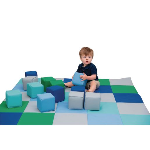 Patchwork Mat and Baby Blocks Set, Contemporary