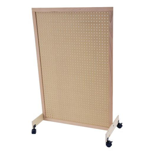 Pegboard Room Divider with Casters