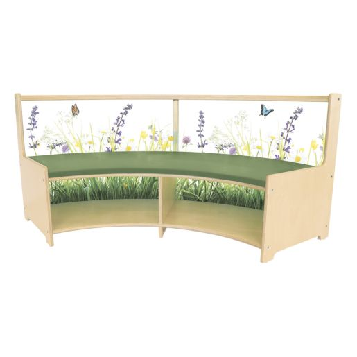 Nature View Curved Sofa with Cushion