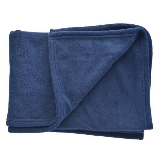 Angeles Comfy Fleece Blanket - Blue, Set of 6