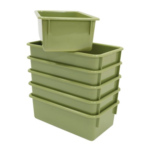 Value Line Cubby Tray, Set of 6 - Sage Green