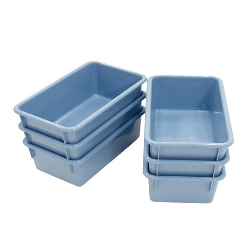 Value Line Cubby Trays, Set of 6 - Light Blue