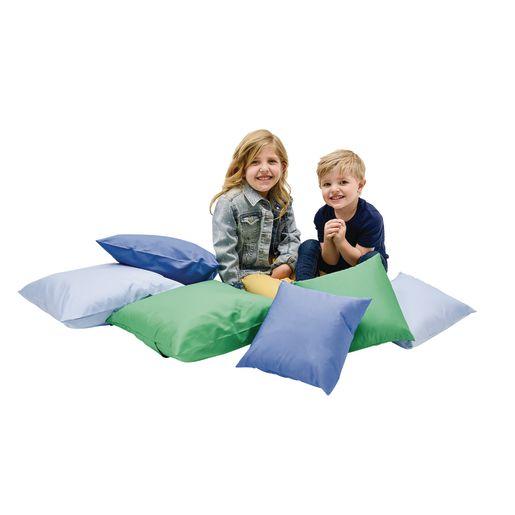 "Soft Pillows 12"" sq. & 17"" sq. - Contemporary, Set of 6"