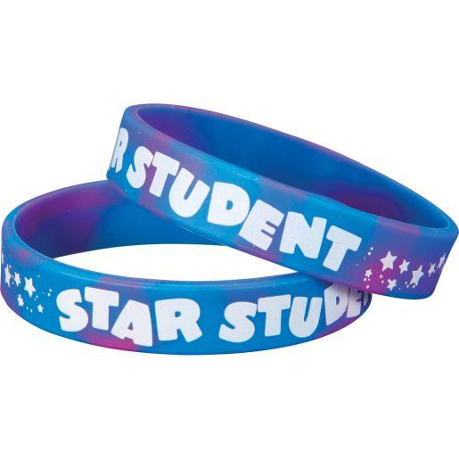Star Student Silicone Bracelets - 24 bracelets