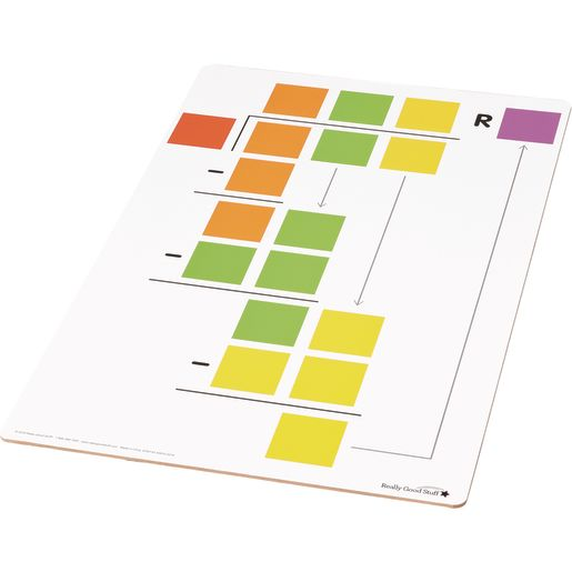 Beginning Long Division Dry Erase Boards - Teacher And Students Kit - 7 boards