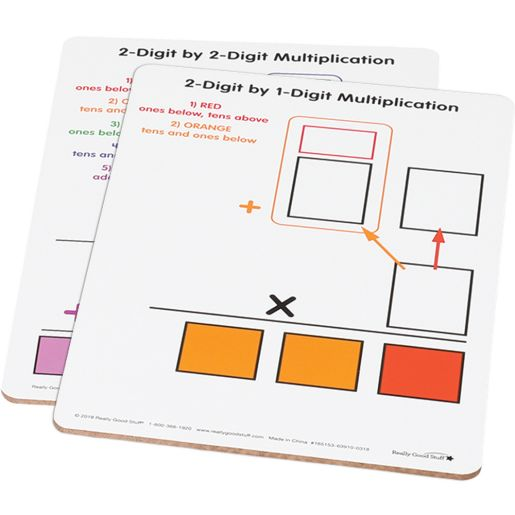 Beginning 2-Digit Multiplication Dry Erase Boards - 6 boards