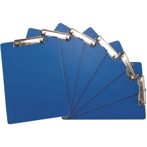 Blue Clipboards And Double Clipboard Stand - 1 stand, 24 clipboards