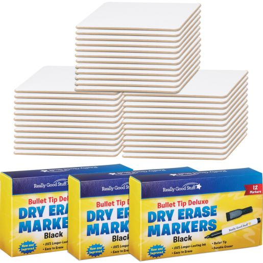 """""""9"""""""" X 6"""""""" Mini Magnetic Dry Erase Boards With Markers - Set Of 36"""""""