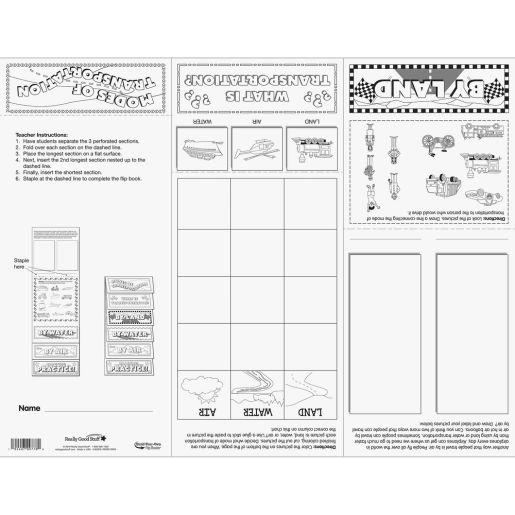 Build-Your-Own Flip Books  Modes Of Transportation - 24 flip books