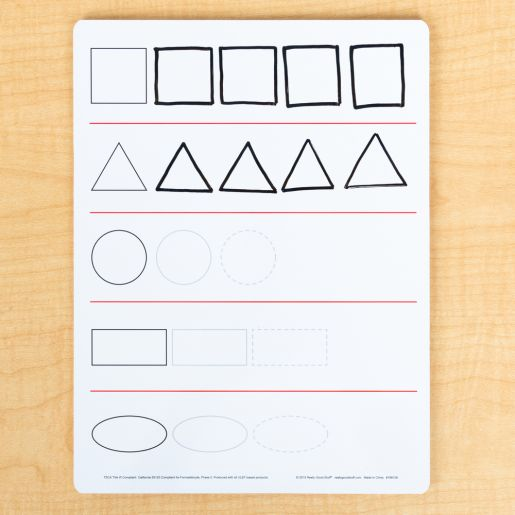 Numbers And Shapes, Non-Magnetic, 2-Sided Dry Erase Boards  Set Of 6
