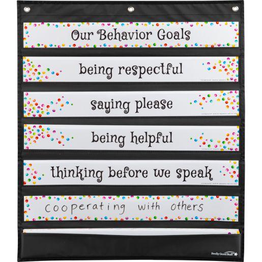 Behavior Focus Pocket Chart Cards - 31 pocket chart cards
