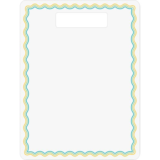 Dry Erase Boards With Handle - Set Of 6