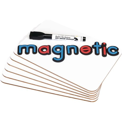 """9"""" X 6"""" Mini-Magnetic Dry Erase Boards - Set Of 24 Boards, 24 Markers and 24 Erasers"""