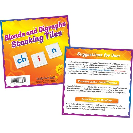 Digraphs Stacking Tiles Game - 1 Game