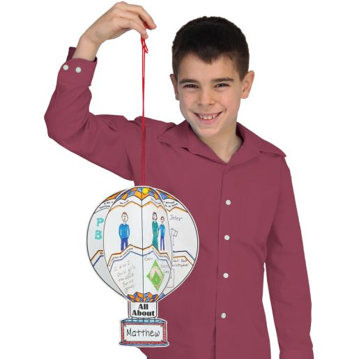 Ready-To-Decorate All About Me 3-D Balloons Bulletin Board Set